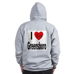 I Love Greensboro (Back) Zip Hoodie