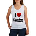 I Love Greensboro (Front) Women's Tank Top