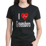 I Love Greensboro (Front) Women's Dark T-Shirt