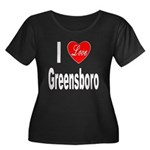 I Love Greensboro (Front) Women's Plus Size Scoop