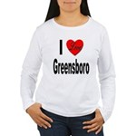 I Love Greensboro (Front) Women's Long Sleeve T-Sh