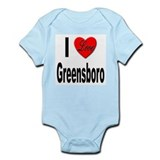 I Love Greensboro Onesie