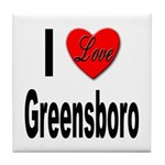 I Love Greensboro Tile Coaster