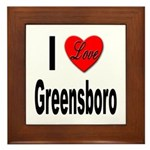 I Love Greensboro Framed Tile