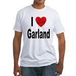 I Love Garland (Front) Fitted T-Shirt