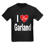 I Love Garland (Front) Kids Dark T-Shirt