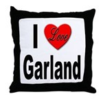 I Love Garland Throw Pillow