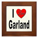 I Love Garland Framed Tile