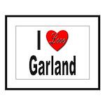 I Love Garland Large Framed Print