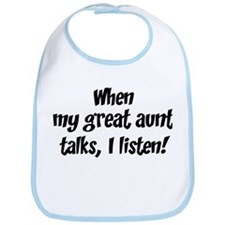 I listen to great aunt Bib