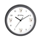 Wall Clock with Pumi dog