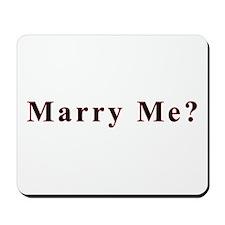 Simple Marry Me Mousepad