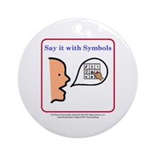 Say it with Symbols! Ornament (Round)