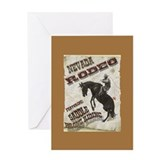Vintage Rodeo Poster Greeting Card