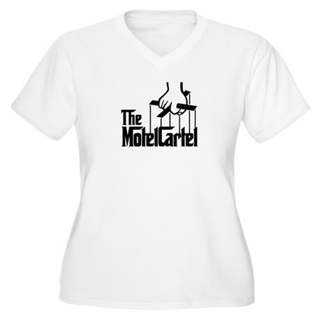 The Motel Cartel Women's Plus Size V-Neck T-Shirt
