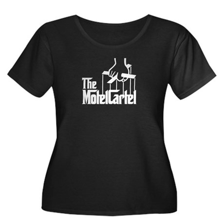 The Motel Cartel Women's Plus Size Scoop Neck Dark