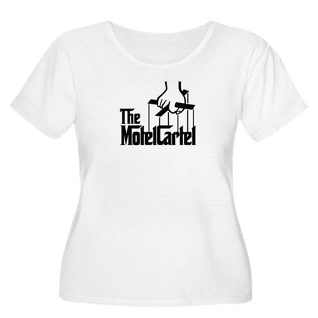 The Motel Cartel Women's Plus Size Scoop Neck T-Sh