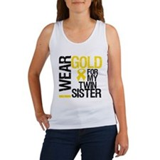 I Wear Gold Twin Sister Women's Tank Top