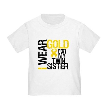 I Wear Gold Twin Sister Toddler T-Shirt