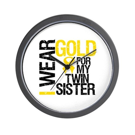 I Wear Gold Twin Sister Wall Clock