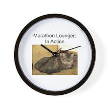 Marathon Lounger Wall Clock