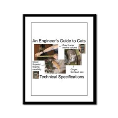 Cat Technical Specs. Framed Panel Print