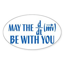 May The Force Be With You Oval Sticker (10 pk)
