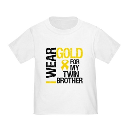 I Wear Gold Twin Brother Toddler T-Shirt