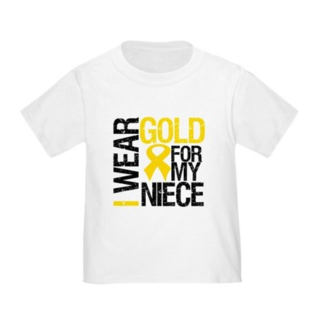 I Wear Gold For My Niece Toddler T-Shirt