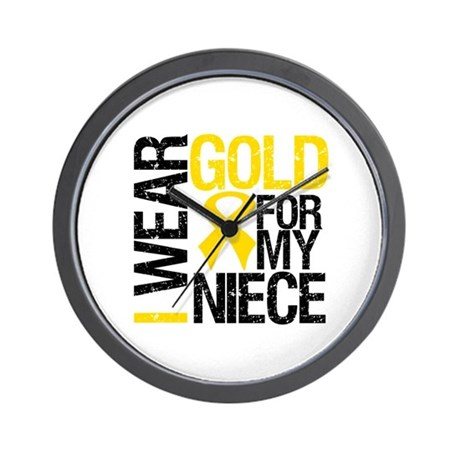I Wear Gold For My Niece Wall Clock