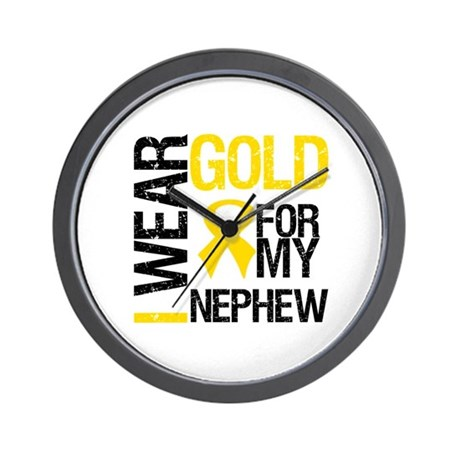 I Wear Gold For Nephew Wall Clock