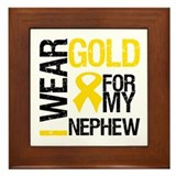 I Wear Gold For Nephew Framed Tile