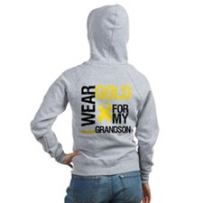 I Wear Gold For Grandson Zip Hoodie