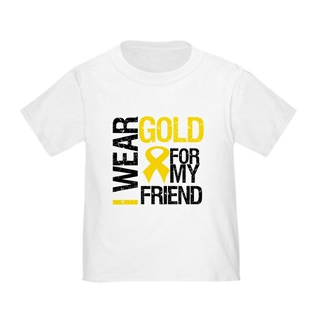I Wear Gold For My Friend Toddler T-Shirt