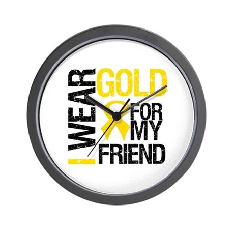 I Wear Gold For My Friend Wall Clock