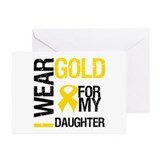 I Wear Gold For Daughter Greeting Cards (Pk of 10)