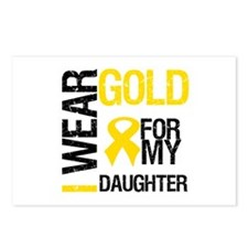 I Wear Gold For Daughter Postcards (Package of 8)
