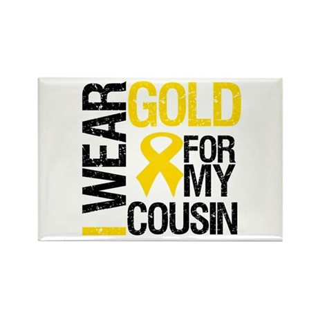 I Wear Gold For Cousin Rectangle Magnet