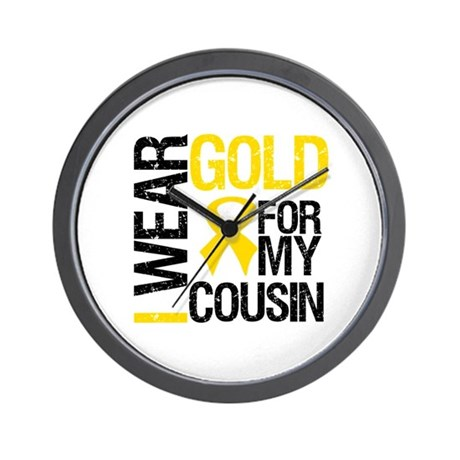 I Wear Gold For Cousin Wall Clock