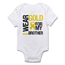 I Wear Gold For My Brother Infant Bodysuit