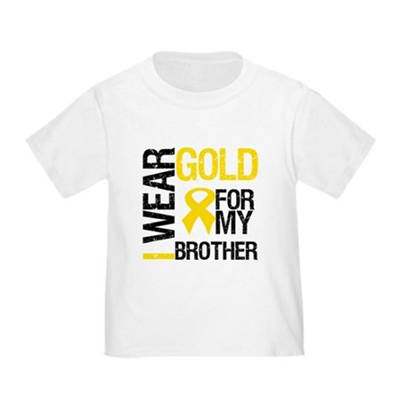 I Wear Gold For My Brother Toddler T-Shirt
