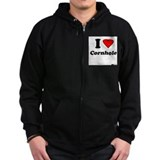 I Love Cornhole - Perspective Zip Hoodie