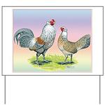 Ameraucana Chickens Pair Yard Sign