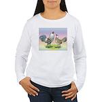 Ameraucana Chickens Pair Women's Long Sleeve T-Shi