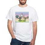 Ameraucana Chickens Pair White T-Shirt