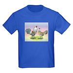 Ameraucana Chickens Pair Kids Dark T-Shirt