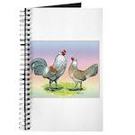 Ameraucana Chickens Pair Journal