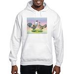 Ameraucana Chickens Pair Hooded Sweatshirt