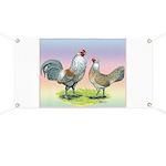 Ameraucana Chickens Pair Banner