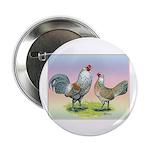 """Ameraucana Chickens Pair 2.25"""" Button"""